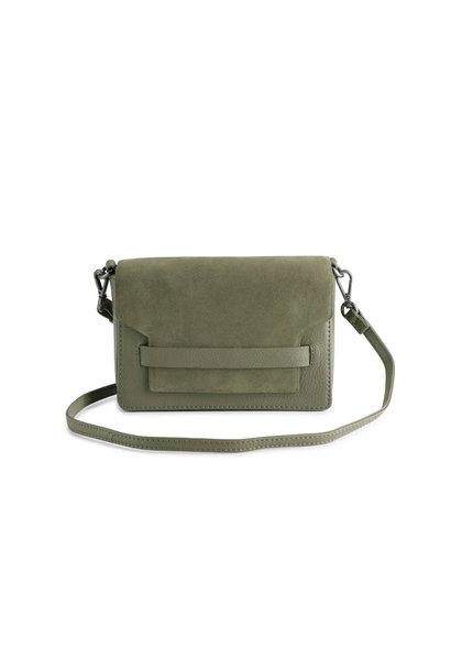 Vanya Crossbody Bag Suede - Olive