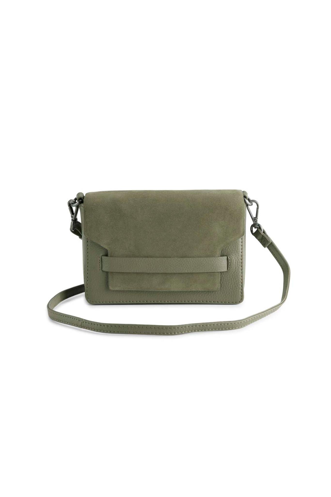 Vanya Crossbody Bag Suede - Olive-1