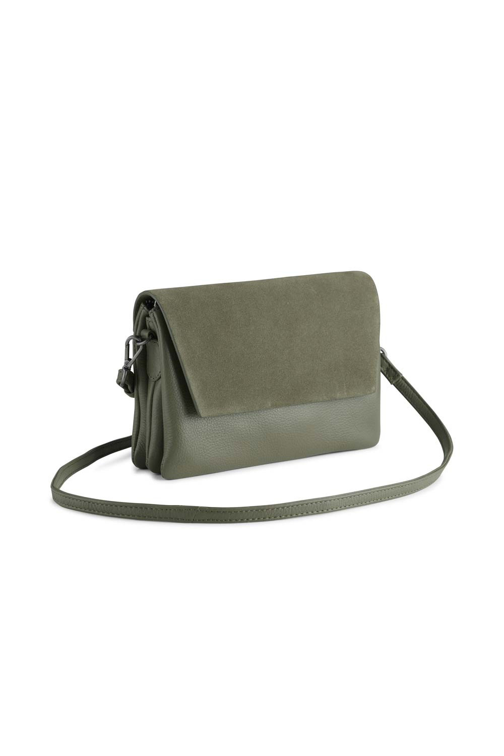 Amy Crossbody Bag Suede Mix - Olive-2