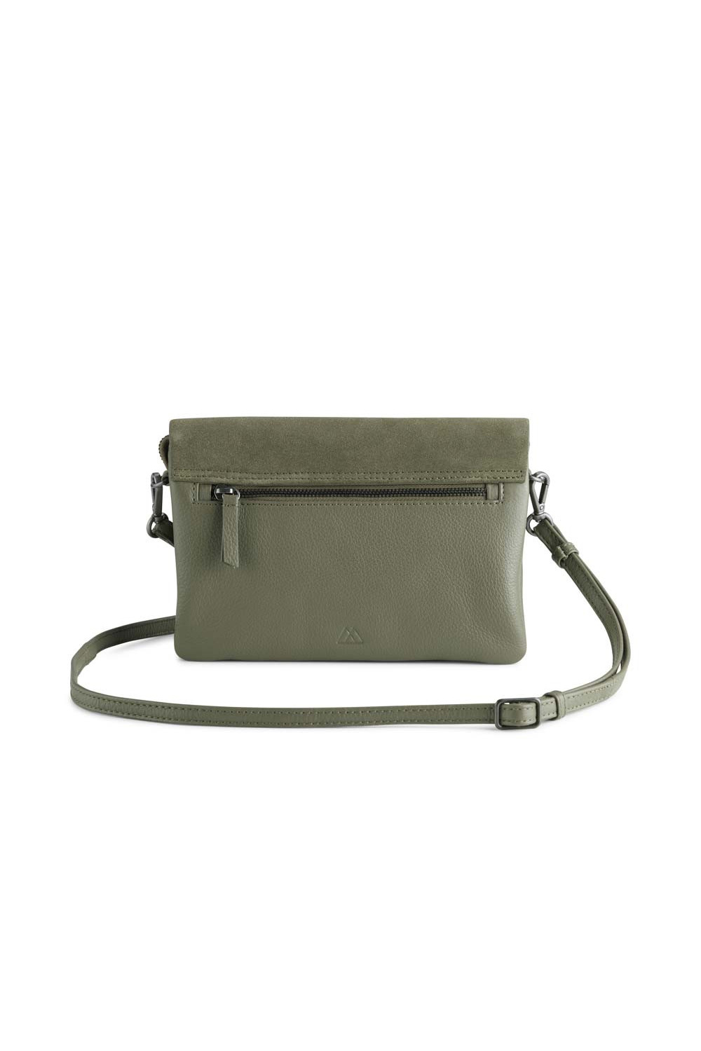 Amy Crossbody Bag Suede Mix - Olive-4