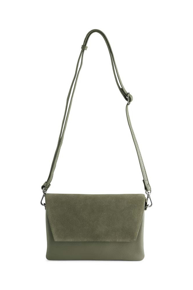 Amy Crossbody Bag Suede Mix - Olive-5