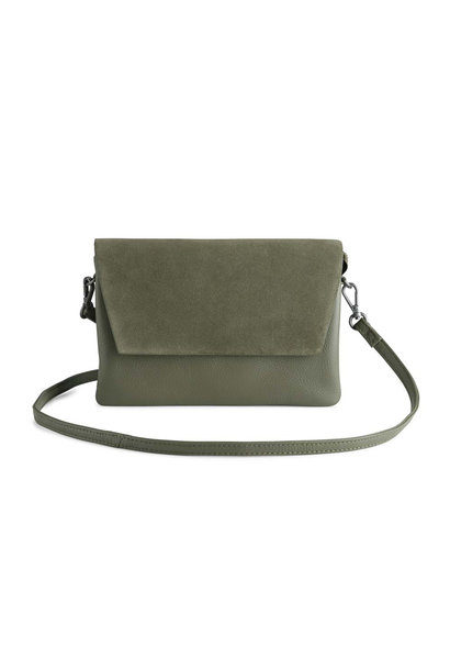 Amy Crossbody Bag Suede Mix - Olive