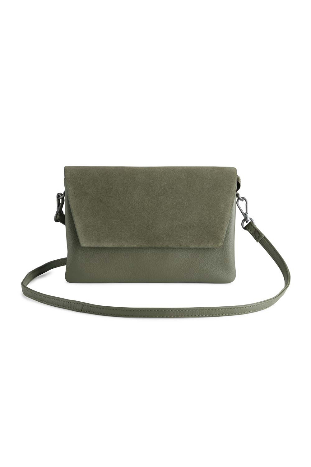 Amy Crossbody Bag Suede Mix - Olive-1