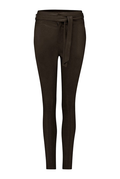 Ann Leather Pant - Dark Chocolate