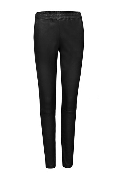 Babba Leather Pant - Black