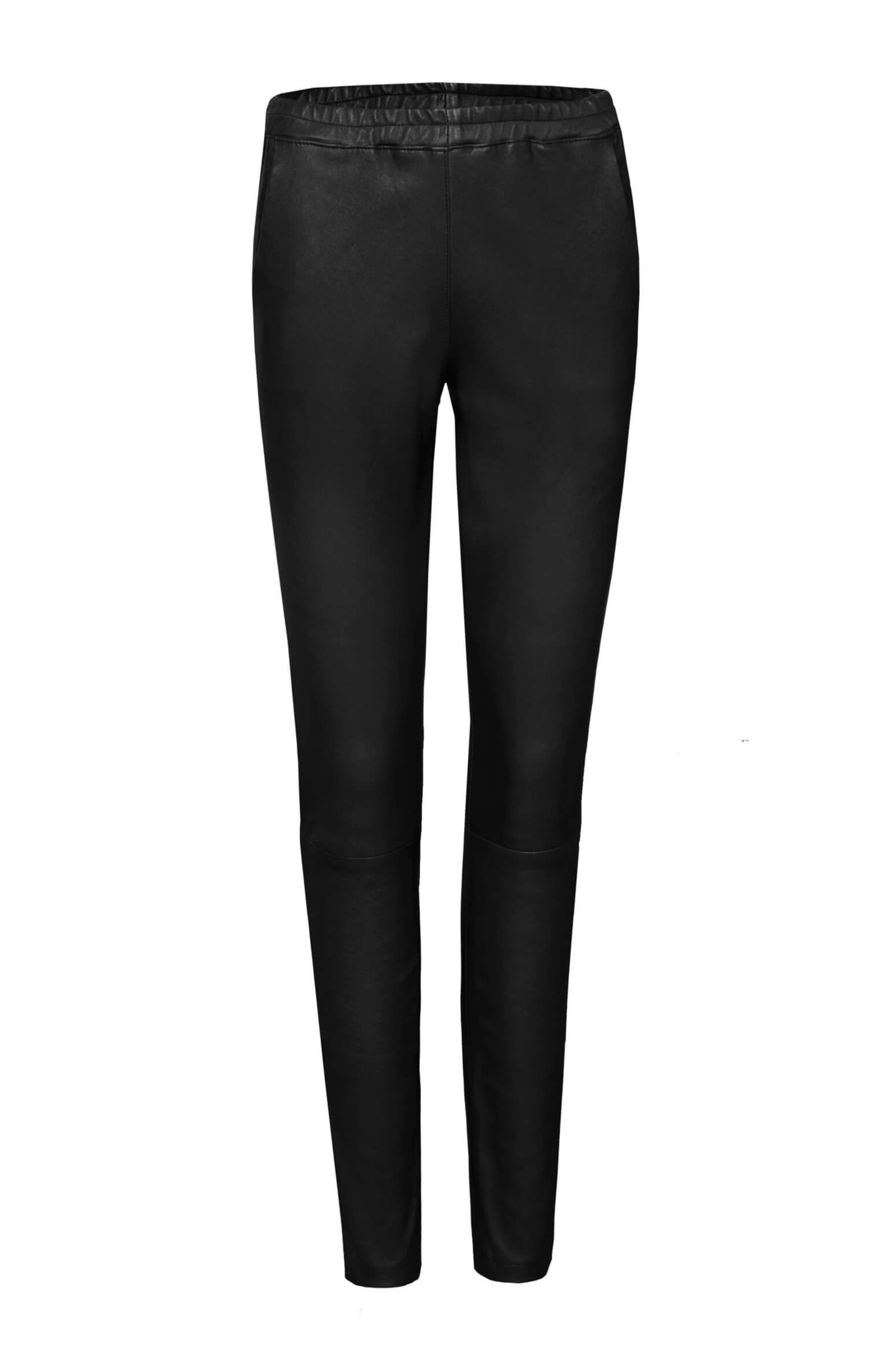 Babba Leather Pant - Black-1