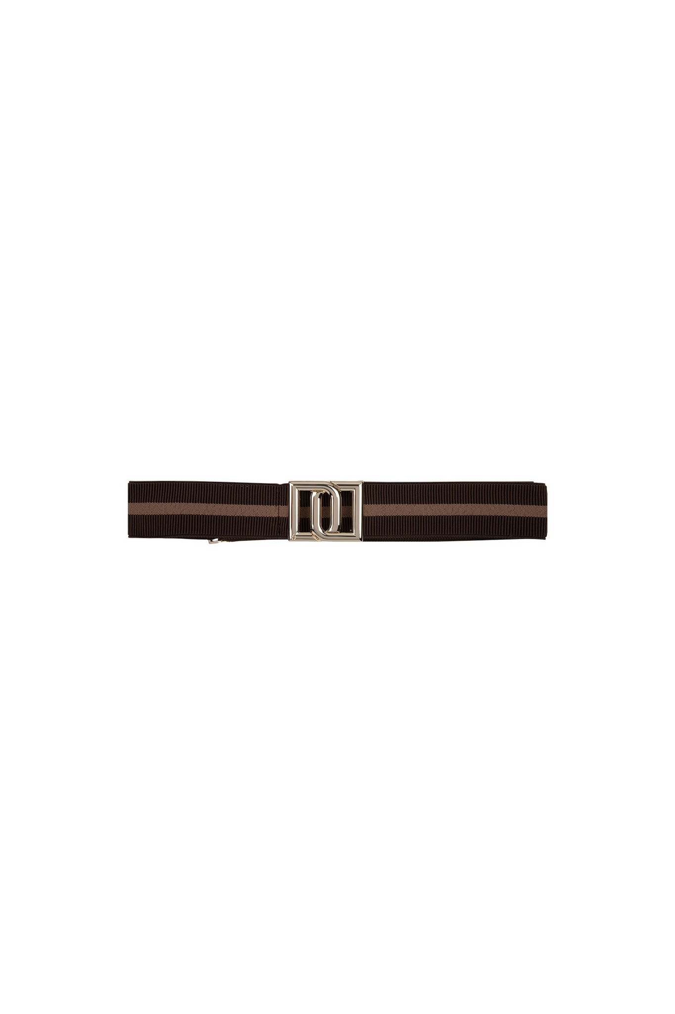 Monogram Belt - Chocolate Stripe-1