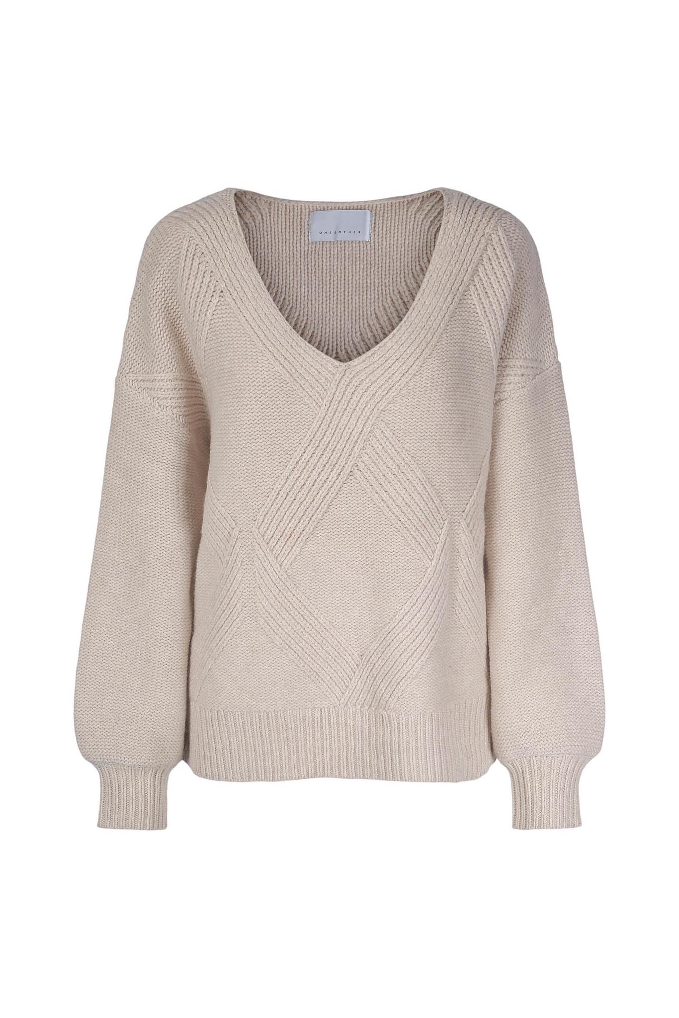 Hermine Sweater - Antique White-1