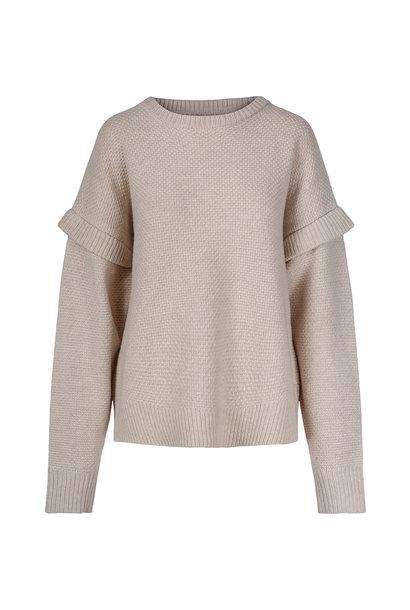 Basket Sweater - Antiek Wit