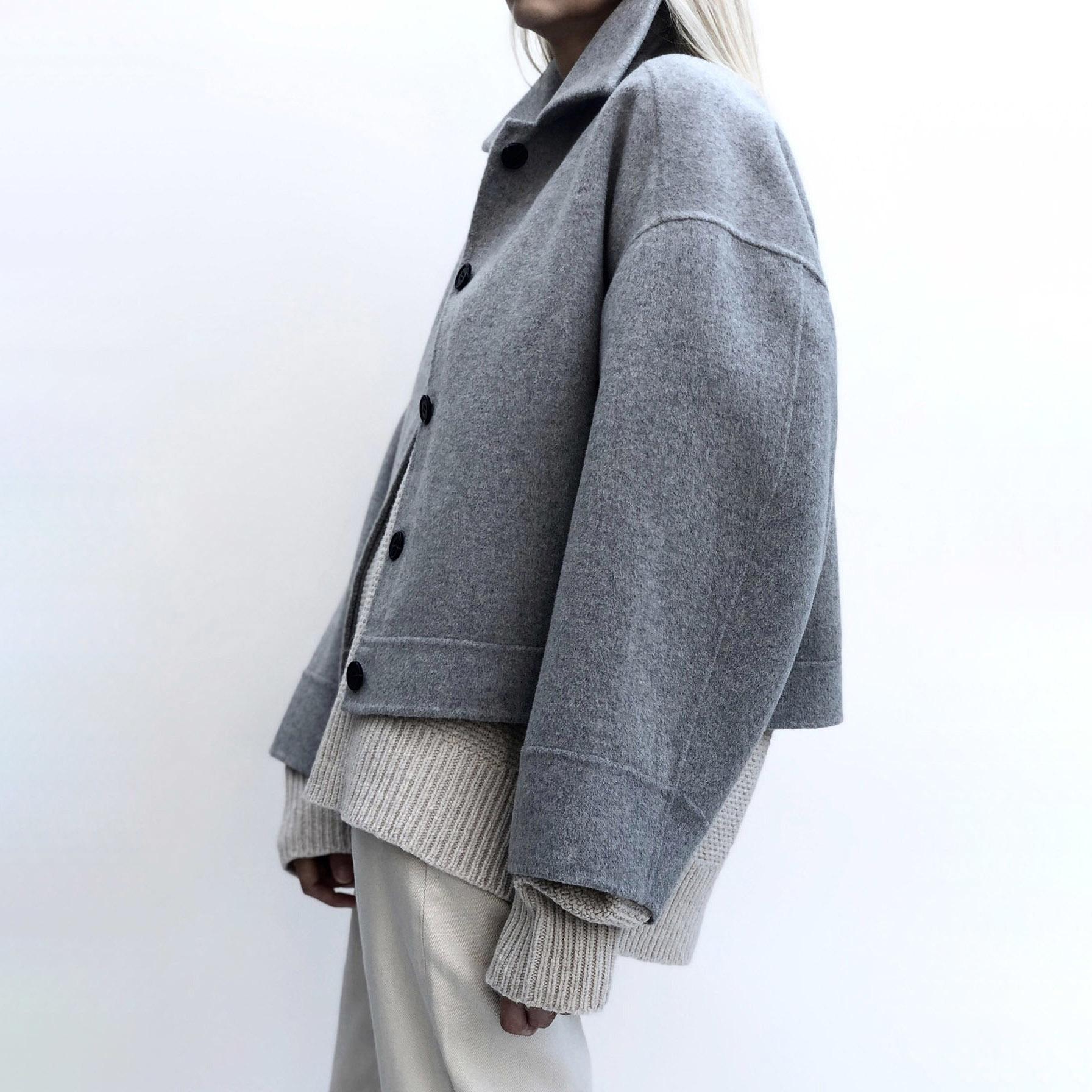 Andy Wool Jacket - Light Grey XS-2