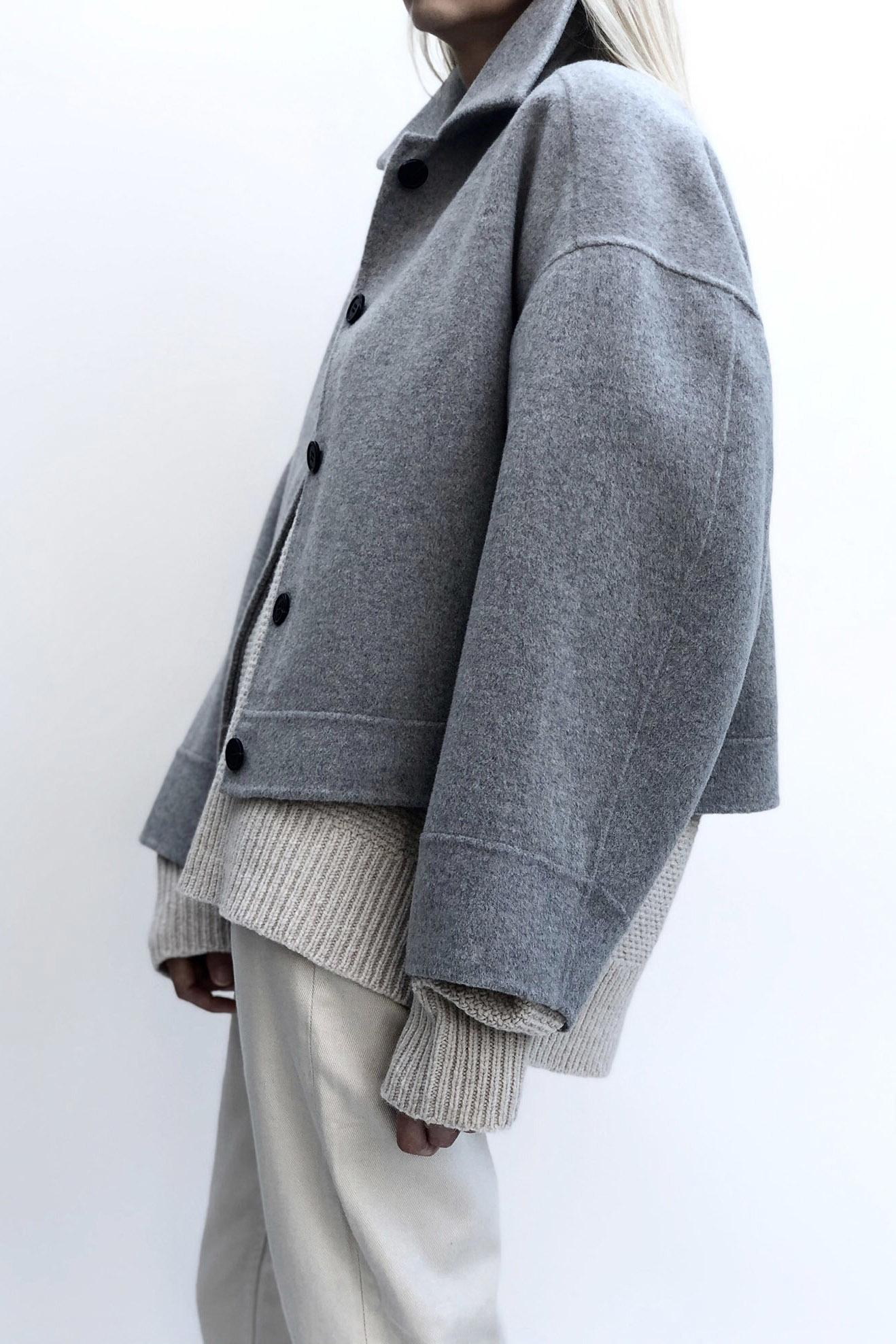 Andy Wool Jacket - Light Grey XS-5