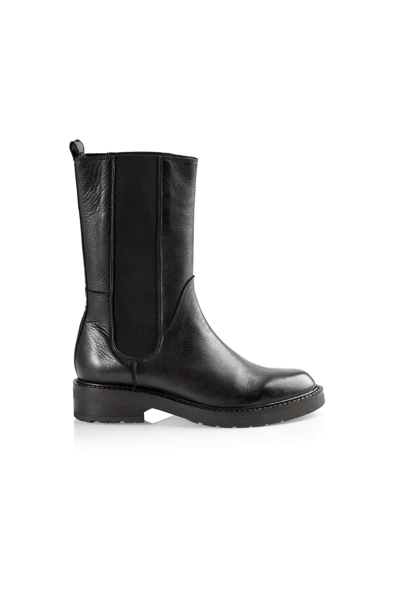 Ines Leather Boots - Black-1