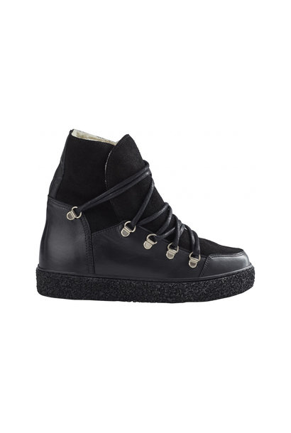 Lola Wool Boot - Black