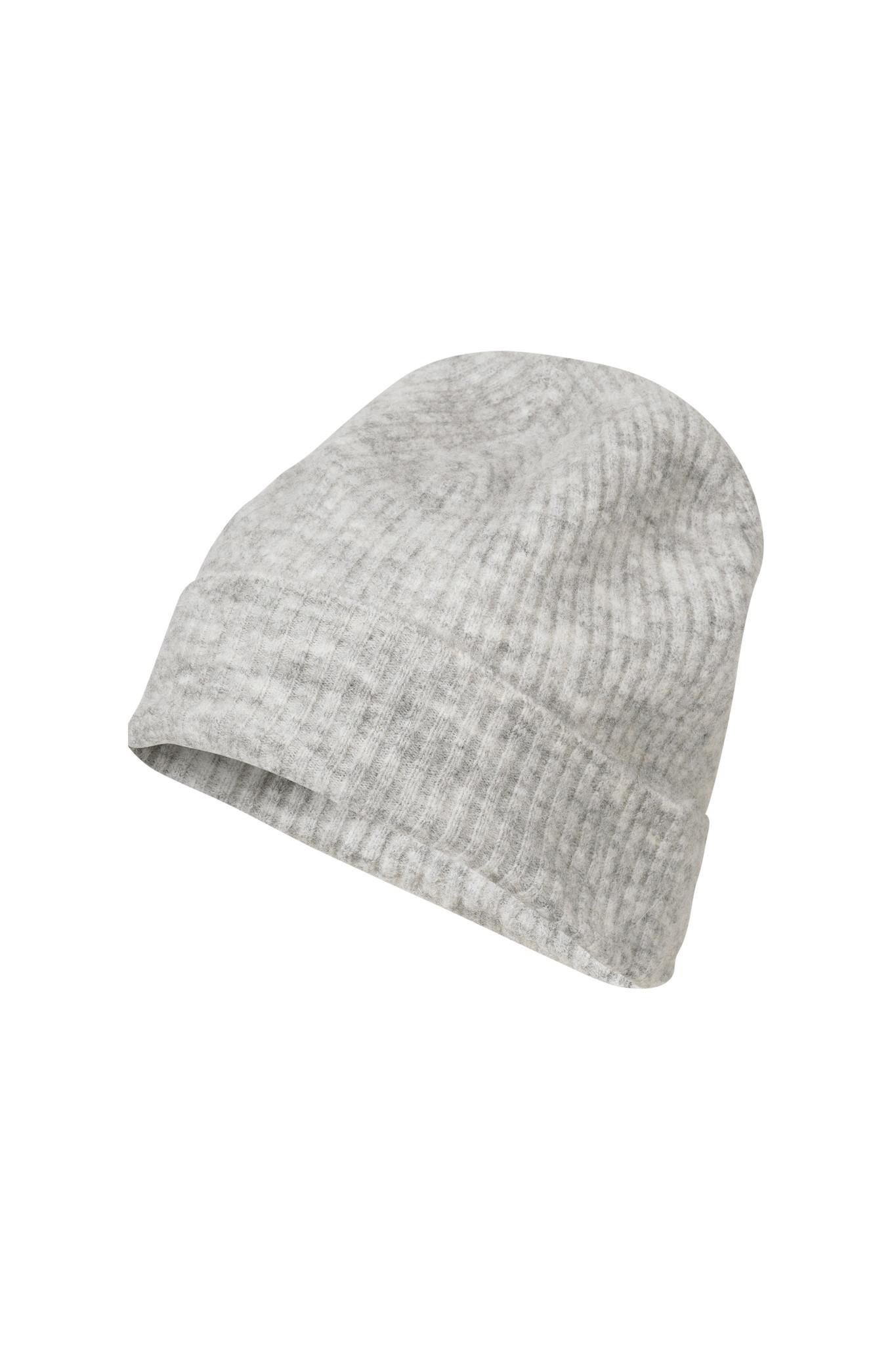 Rhonda Hat - Light Grey Melange-1