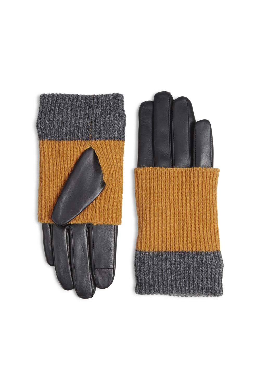 Helly Handschoen - Zwart met Amber + Grijs-3