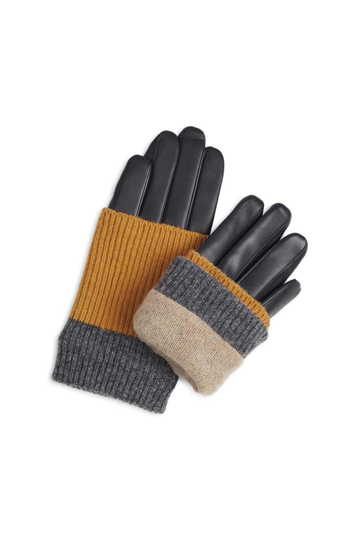 Helly Handschoen - Zwart met Amber + Grijs-2