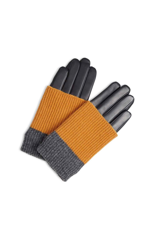 Helly Handschoen - Zwart met Amber + Grijs-1