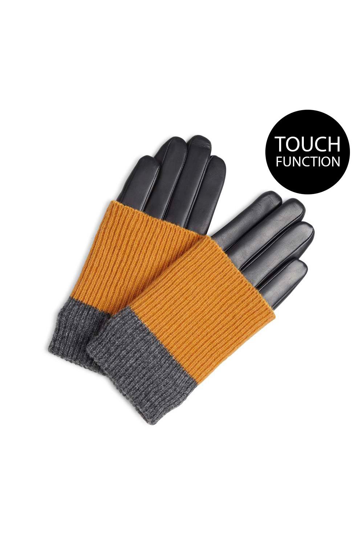 Helly Handschoen - Zwart met Amber + Grijs-5