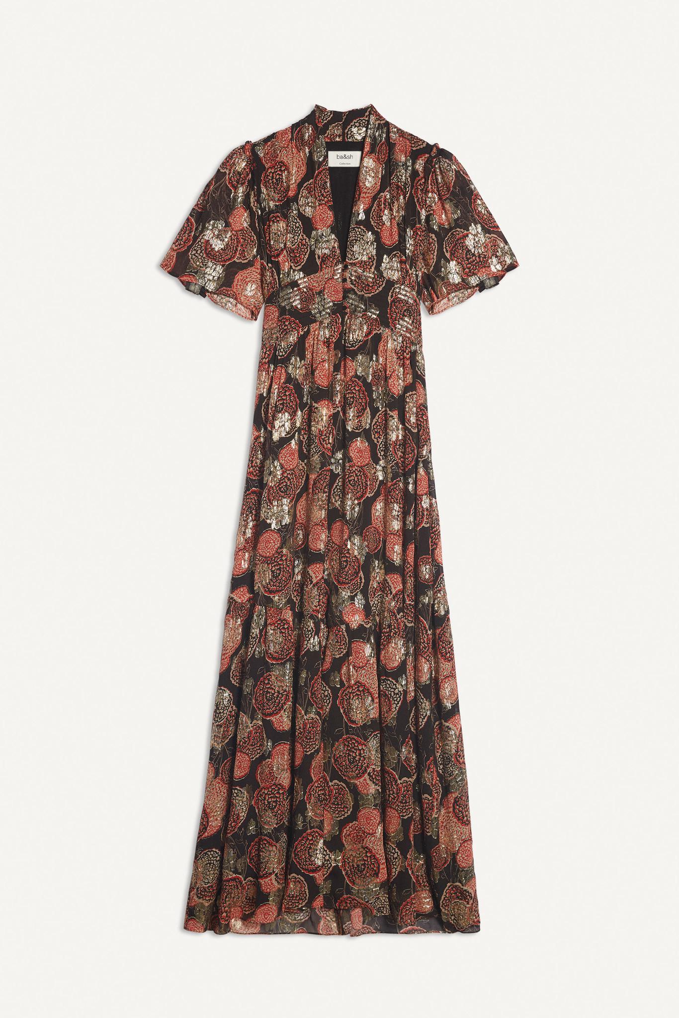 Hide Dress Maxi - Black-8