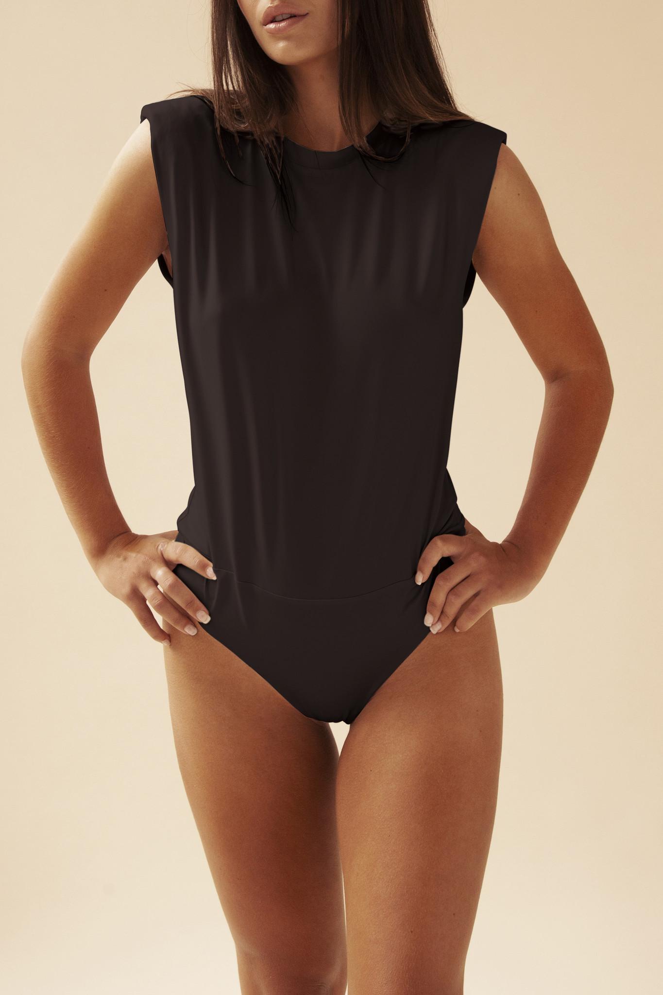 Padded Shirt Body - Zwart-1