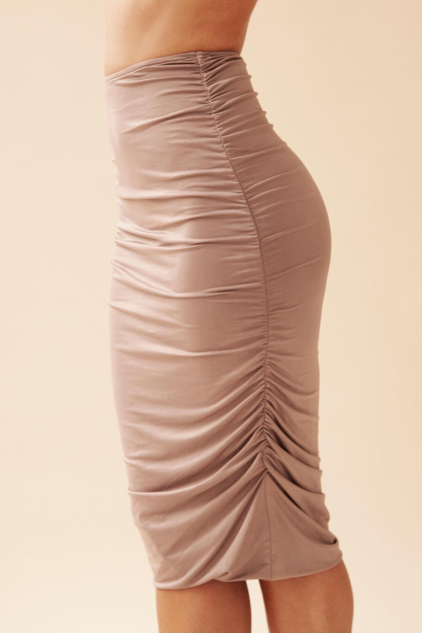 Gathered Skirt - Army-1
