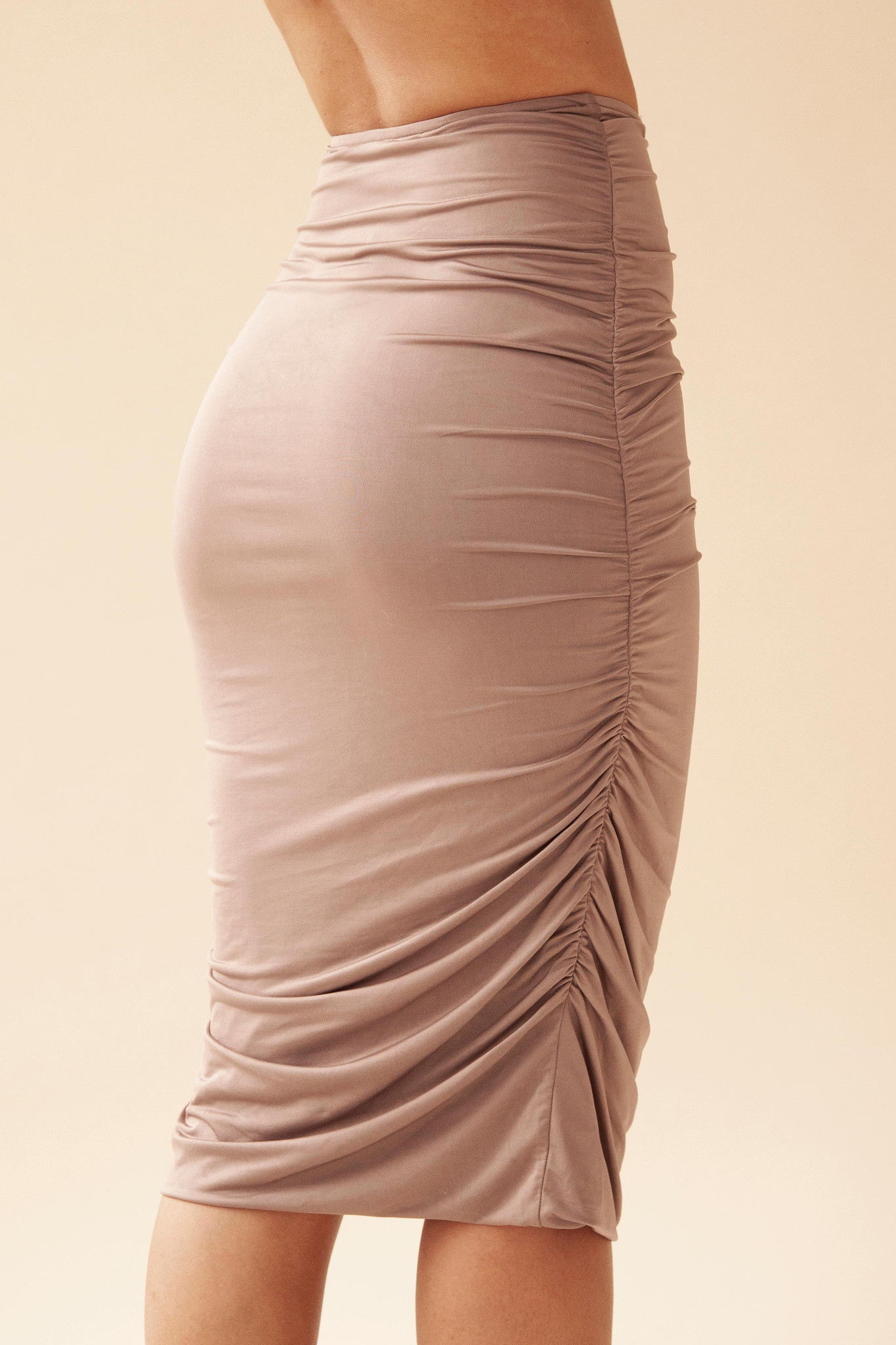 Gathered Skirt - Army-3