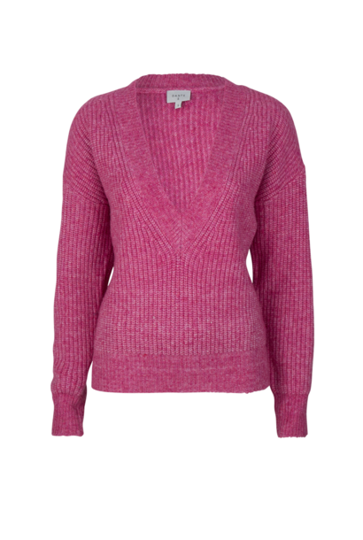 Taos Cropped Knitted Sweater - Ultra Pink