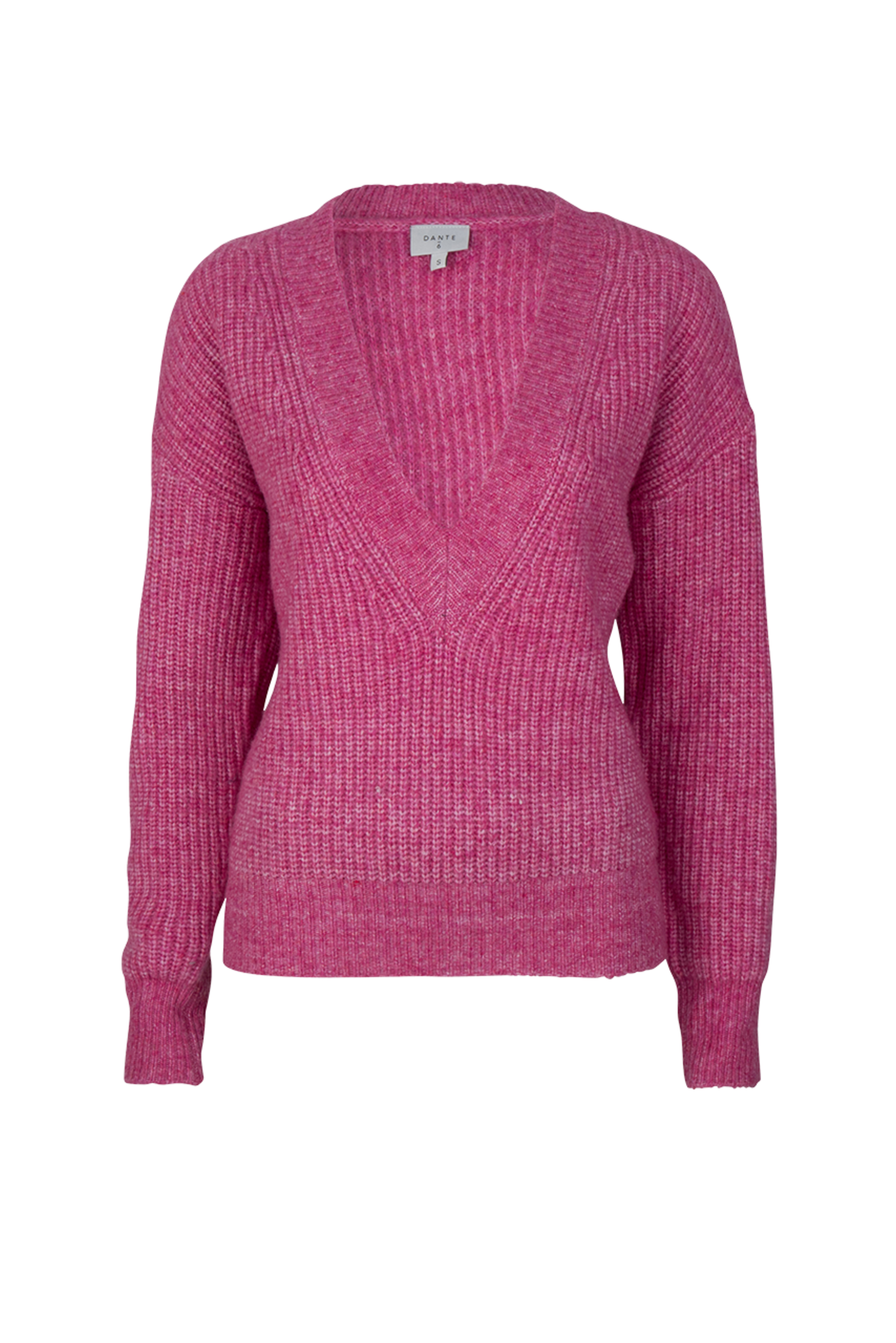 Taos Cropped Knitted Sweater - Ultra Pink-1