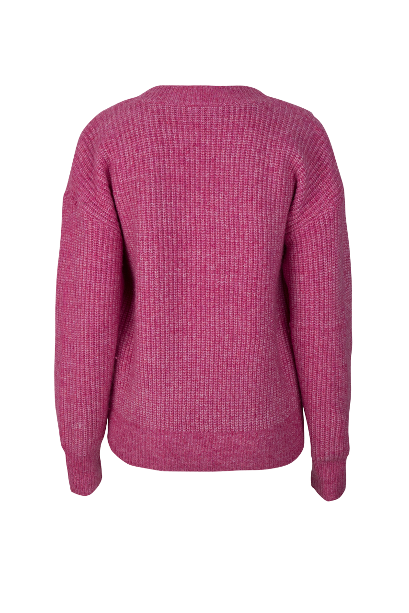 Taos Cropped Knitted Sweater - Ultra Pink-4