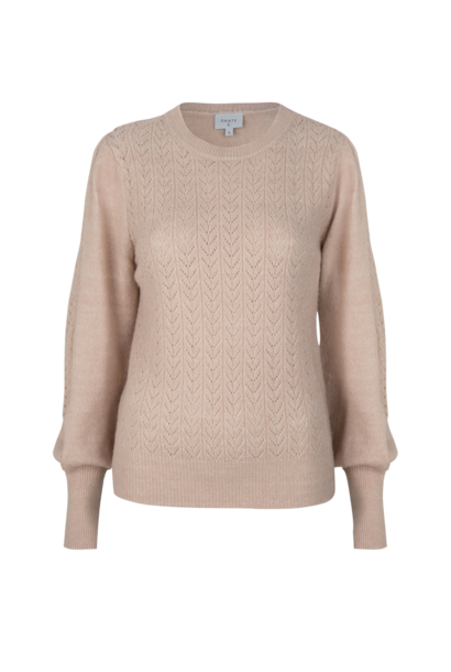 Kinsley Ajour Knit Sweater - Light Powder Rose L