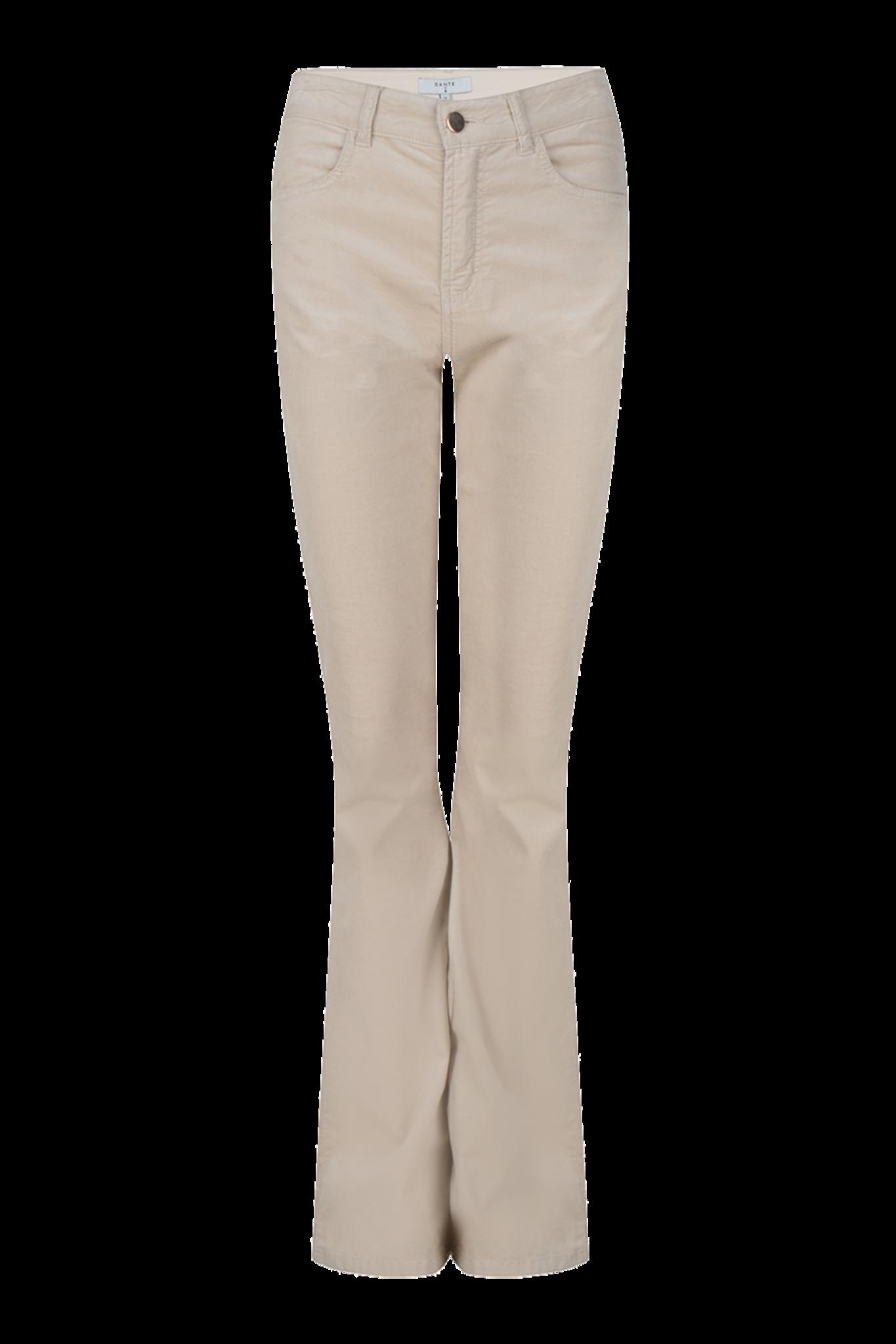 Billie Flare Velvet Pants - Chalk-1