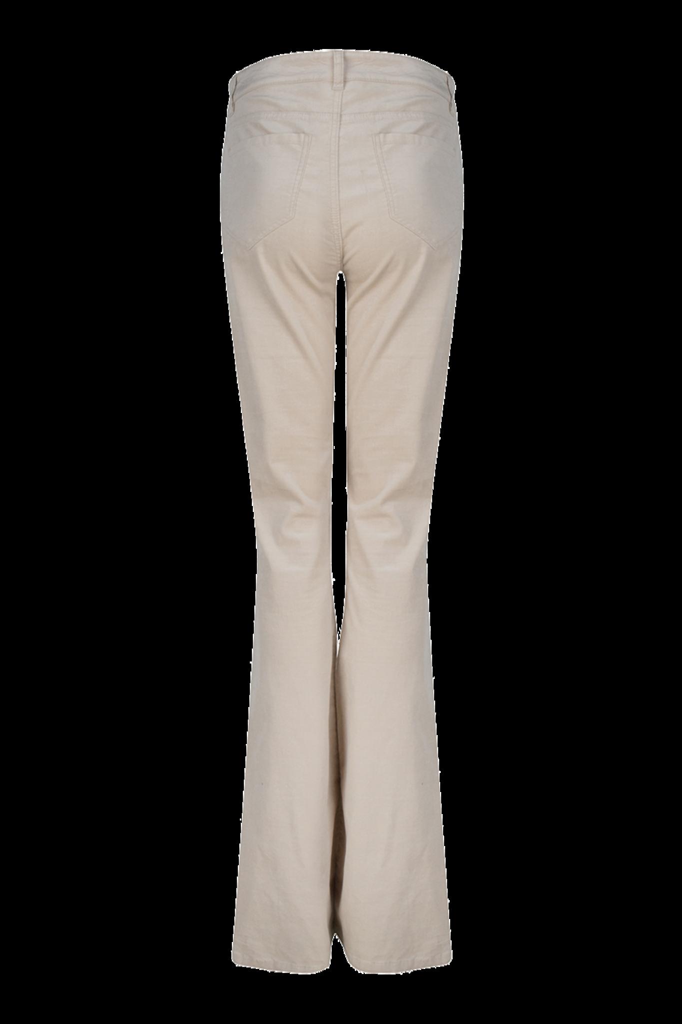 Billie Flare Velvet Pants - Chalk-7
