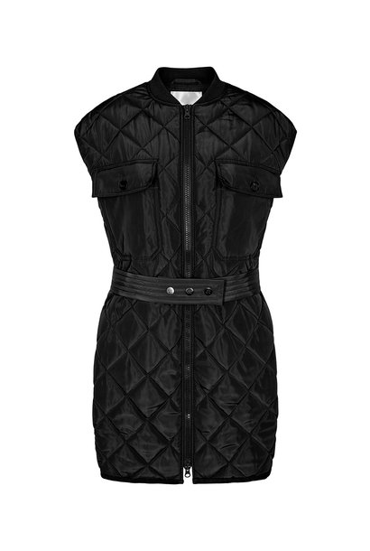 Anaya Quilt Vest - Black