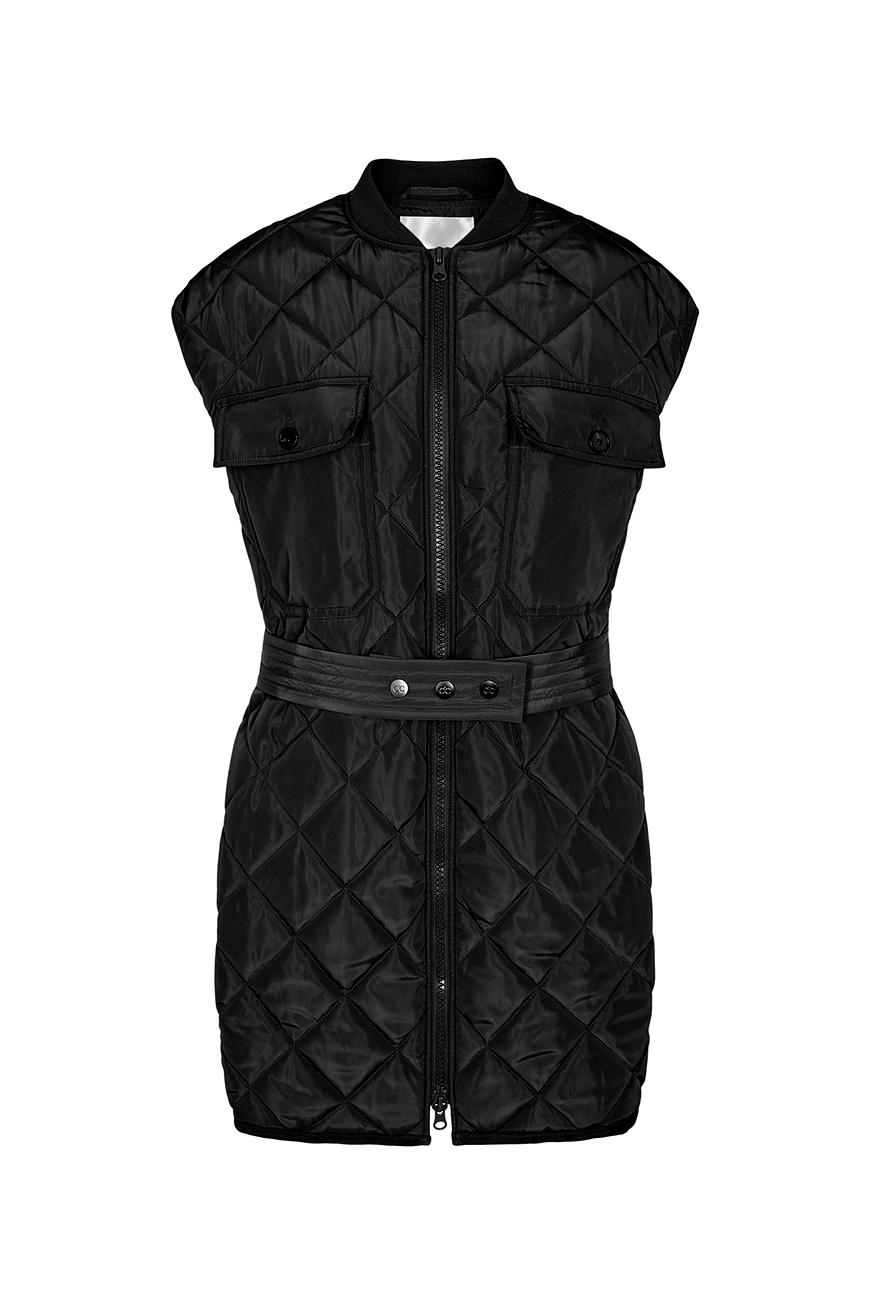 Anaya Quilt Vest - Black-1