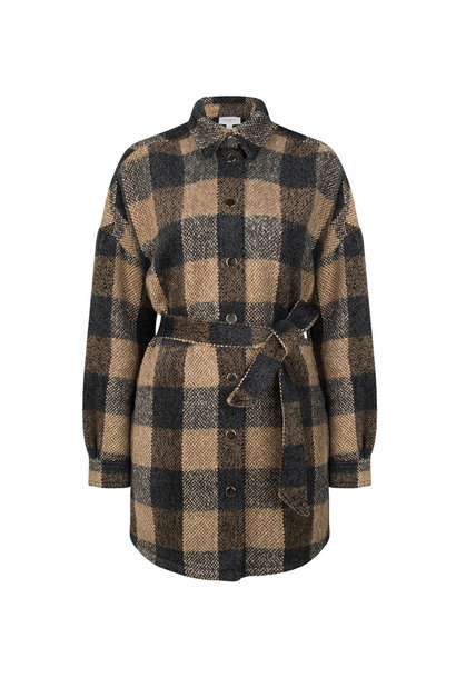 Trucker Check Shirt Coat - Multicolour S