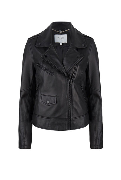 Phaidon Leather Jacket - Raven