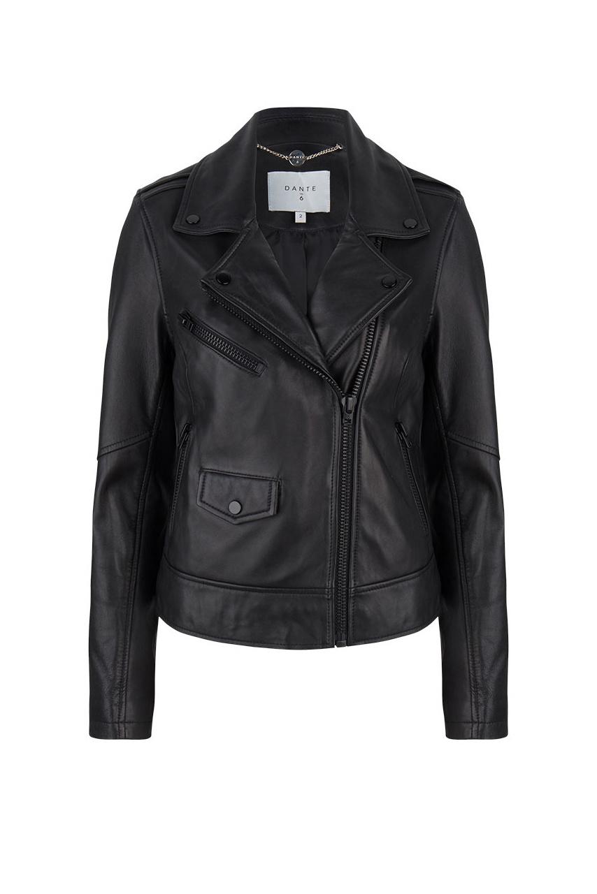 Phaidon Leather Jacket - Raven-1