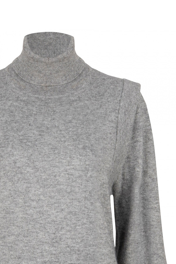 Quentin Sleeve Detail Sweater - Urban Grey-3
