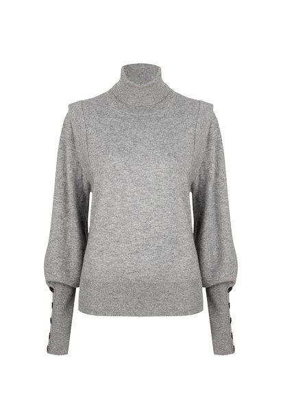 Quentin Sleeve Detail Sweater - Urban Grey
