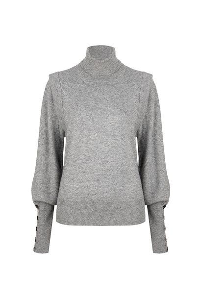 Quentin Sleeve Detail Sweater - Urban Grijs