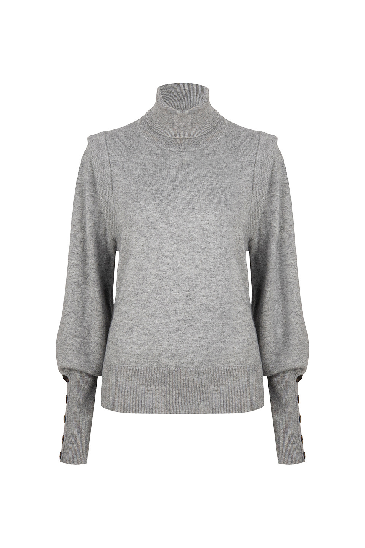 Quentin Sleeve Detail Sweater - Urban Grey-1