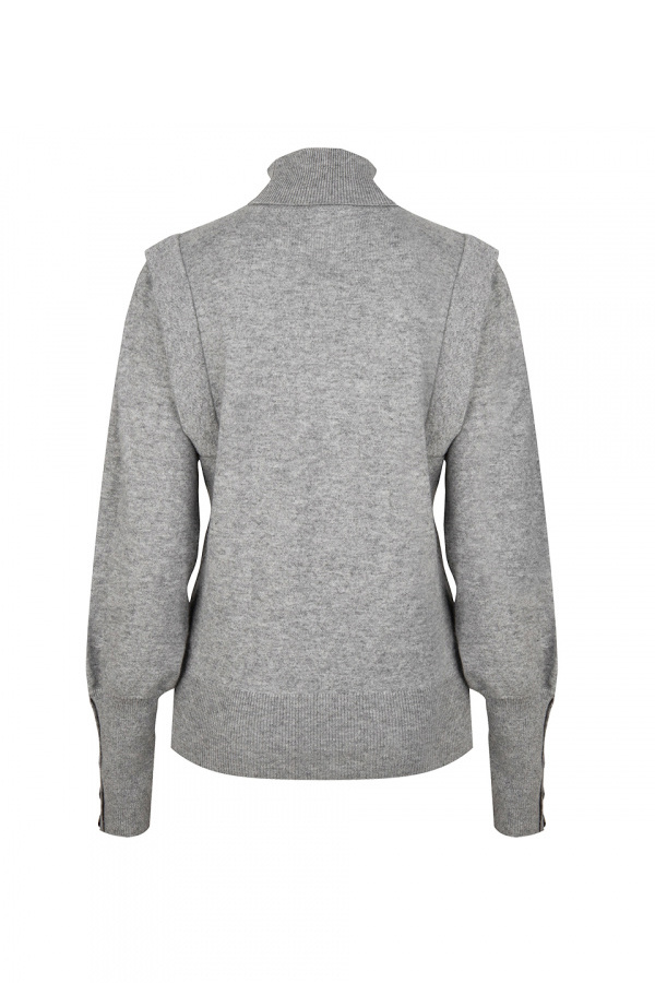 Quentin Sleeve Detail Sweater - Urban Grey-4