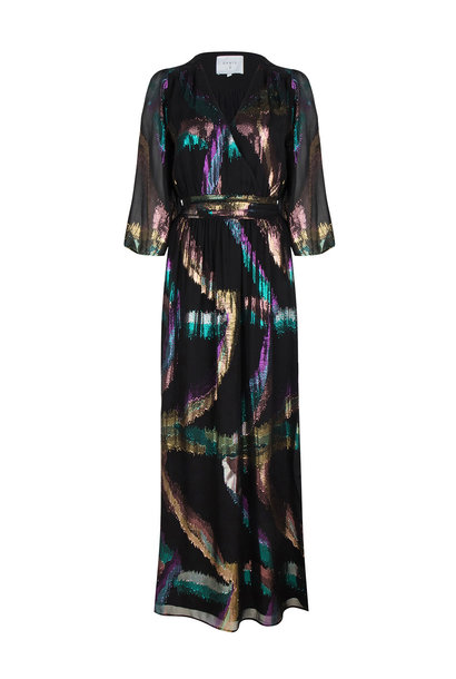Karyn Silk Lurex Maxi Dress - Multicolour