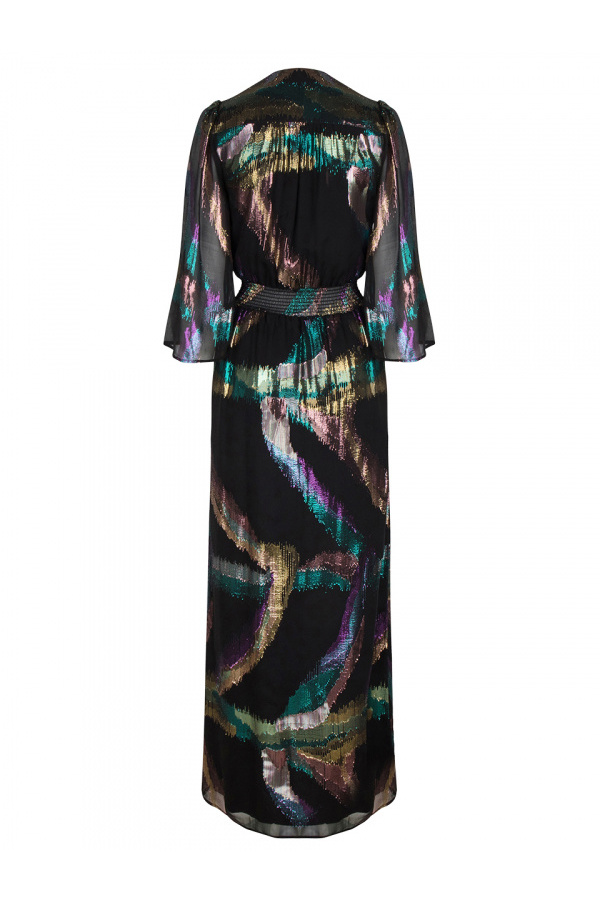 Karyn Silk Lurex Maxi Dress - Multicolour-3