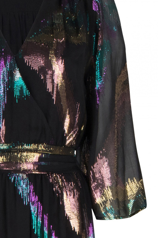 Karyn Silk Lurex Maxi Dress - Multicolour-4