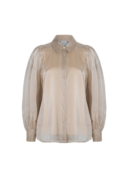 Mauri Organza Blouse - Butter Cream