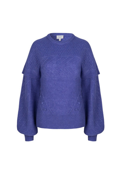Oakly Knit Cable Sweater - Violet Ice Paars