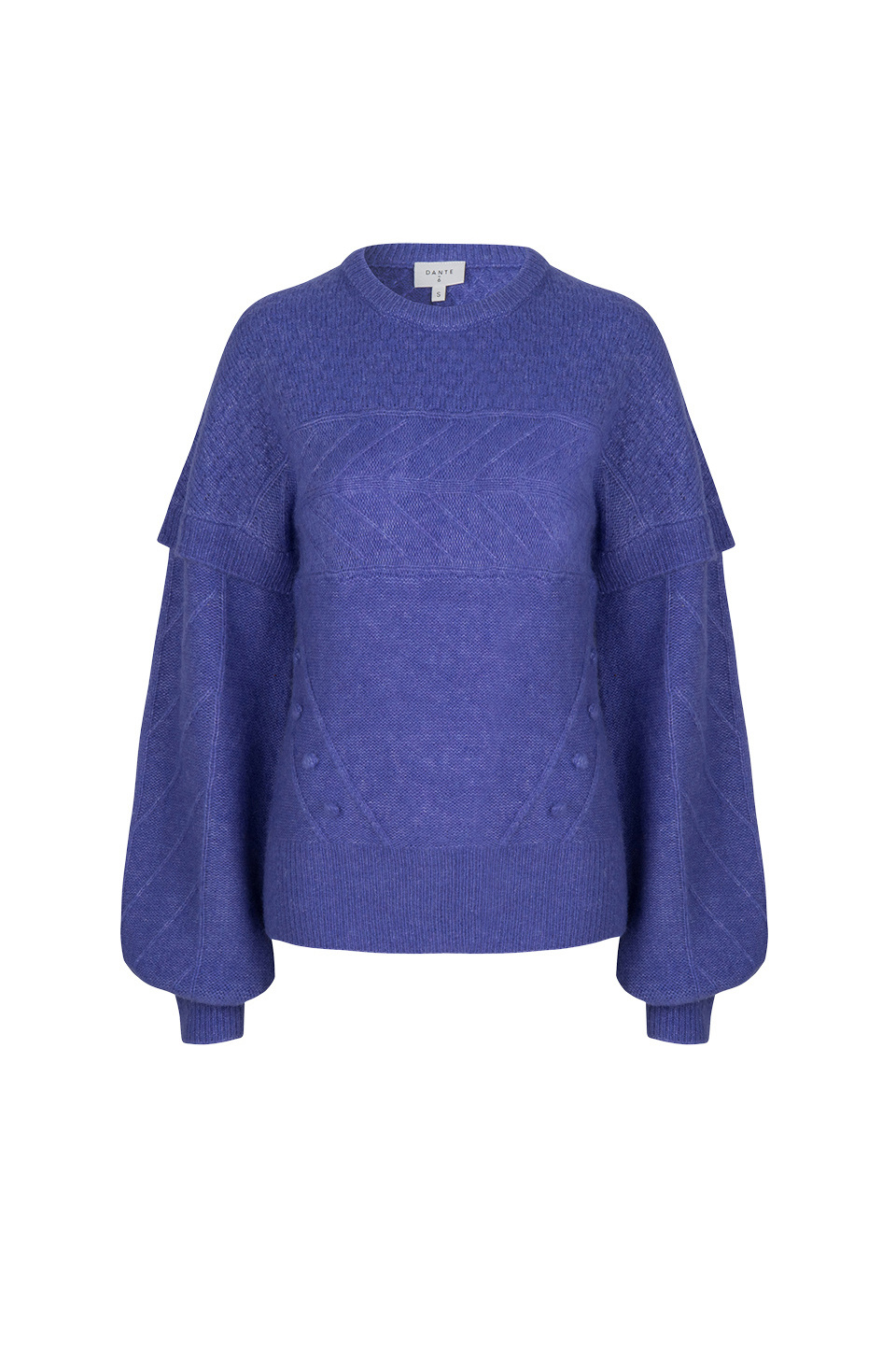 Oakly Knit Cable Sweater - Violet Ice Paars-1
