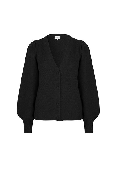 Fox Knit Cardigan - Raven