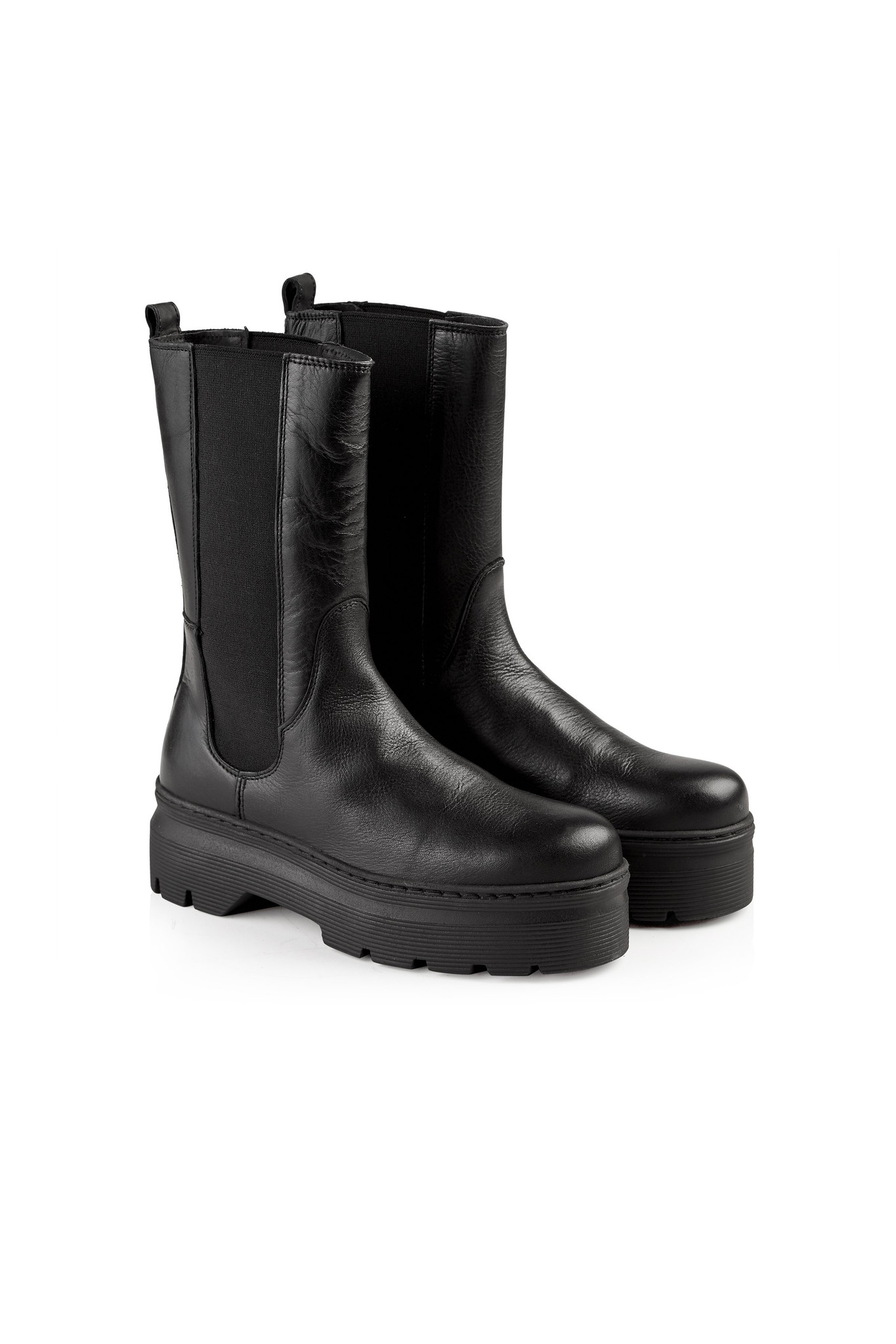 Aya Leather Boot - Black-2
